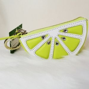Kate Spade Lime Slice Keychain Coin Purse Charm